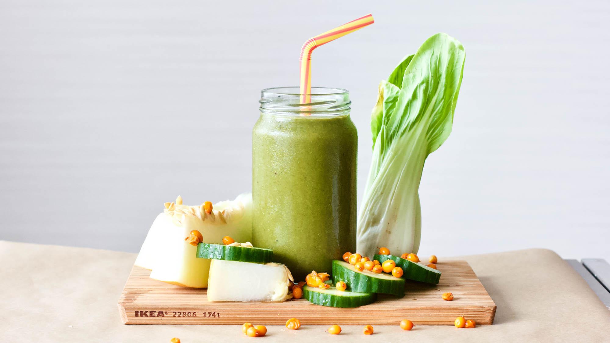 Galia Melon Green Shot Smoothie