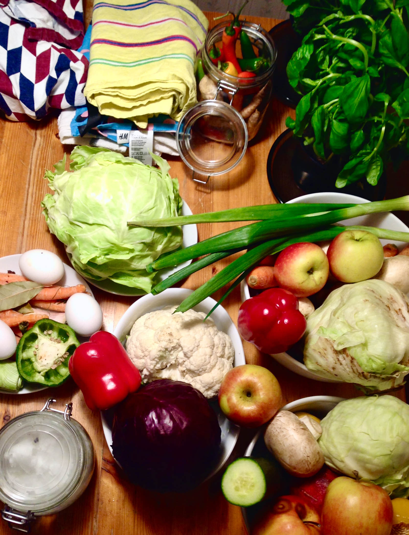 10 Tips for Making Healthier and Conscious Food Choices - Selection of fruits and vegetables on a table.