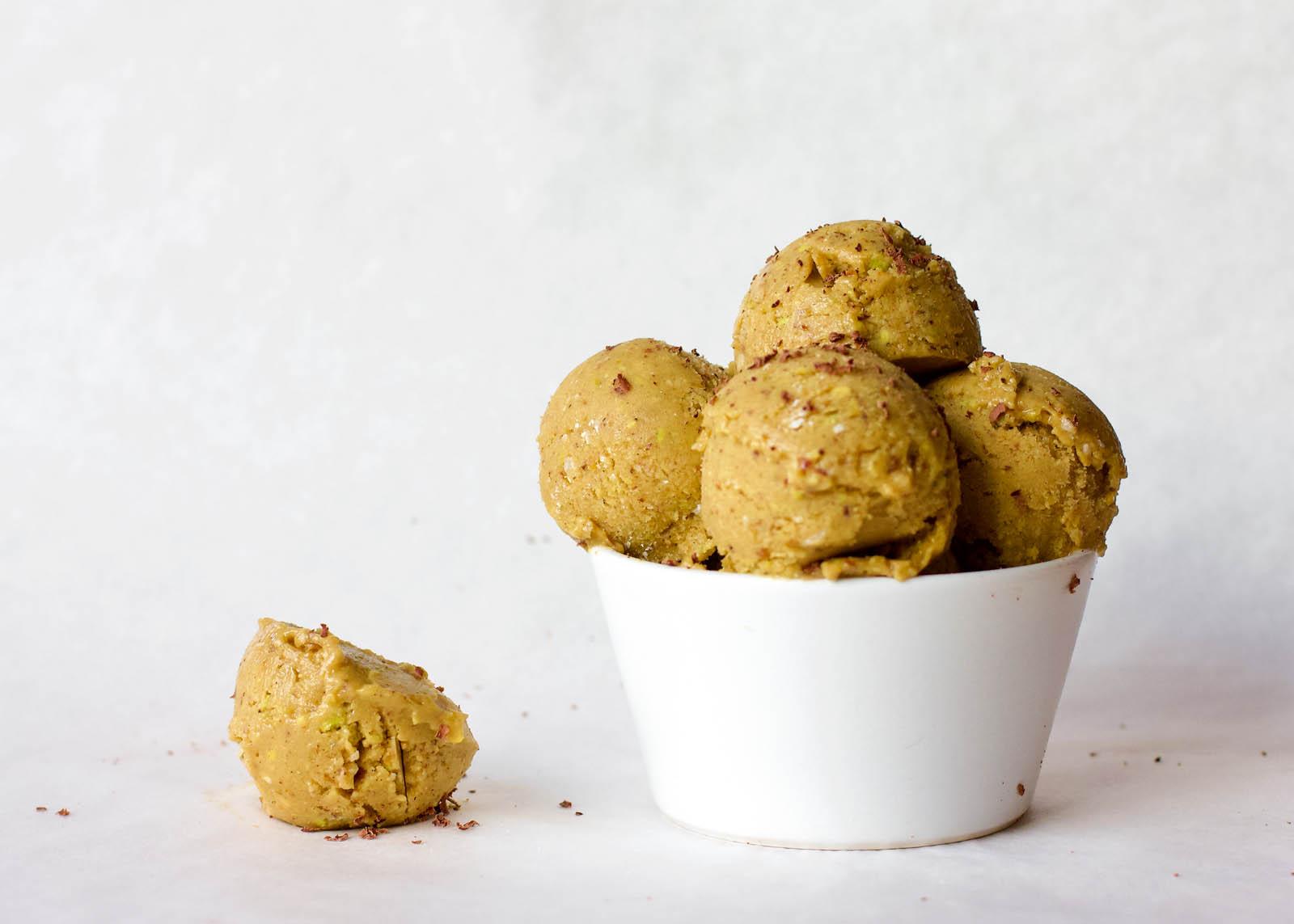 Big serving of Vegan Sweet Peach Ice Cream