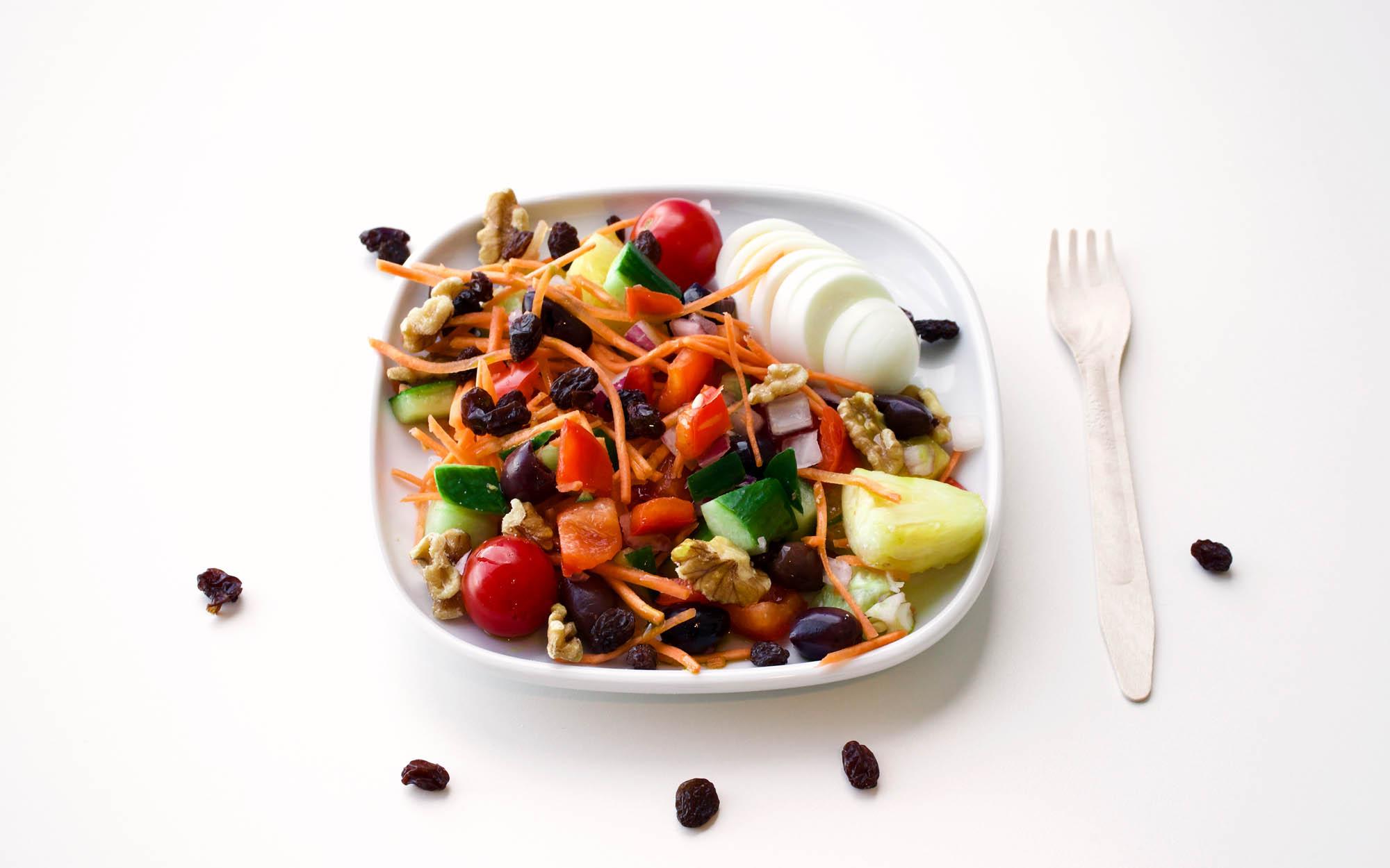 Simple Vegetarian Red Summer Salad