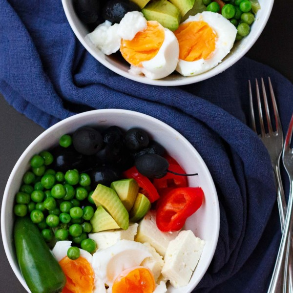 Two bowls of Simple Delicious Leftovers Salad