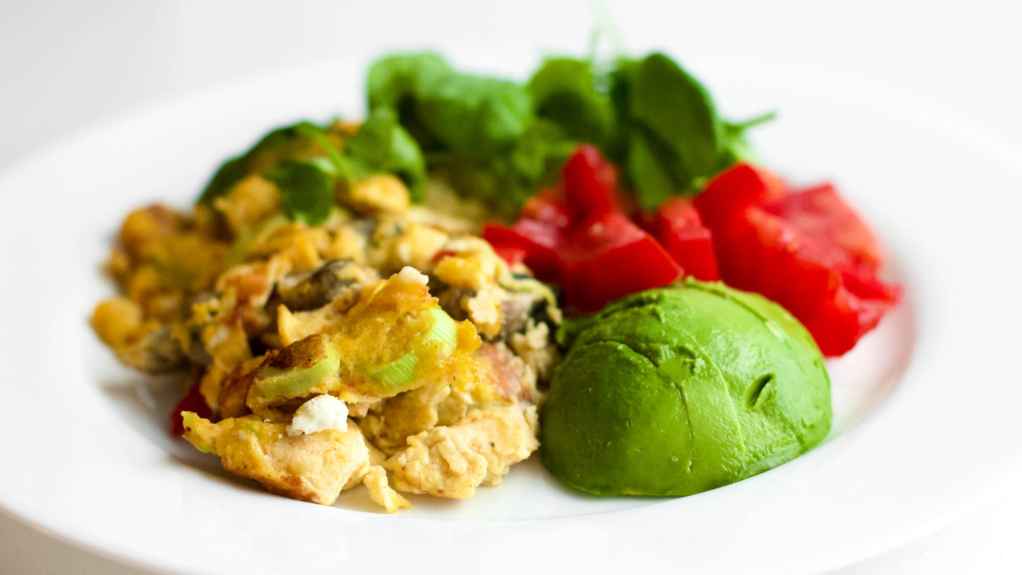 Colorful Scrambled Eggs with Vegetables