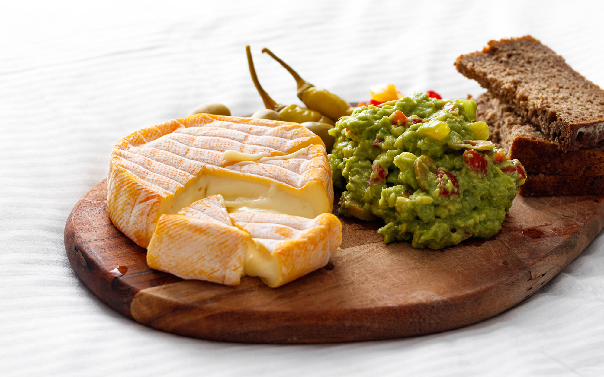 Guacamole and French Cheese Plateau