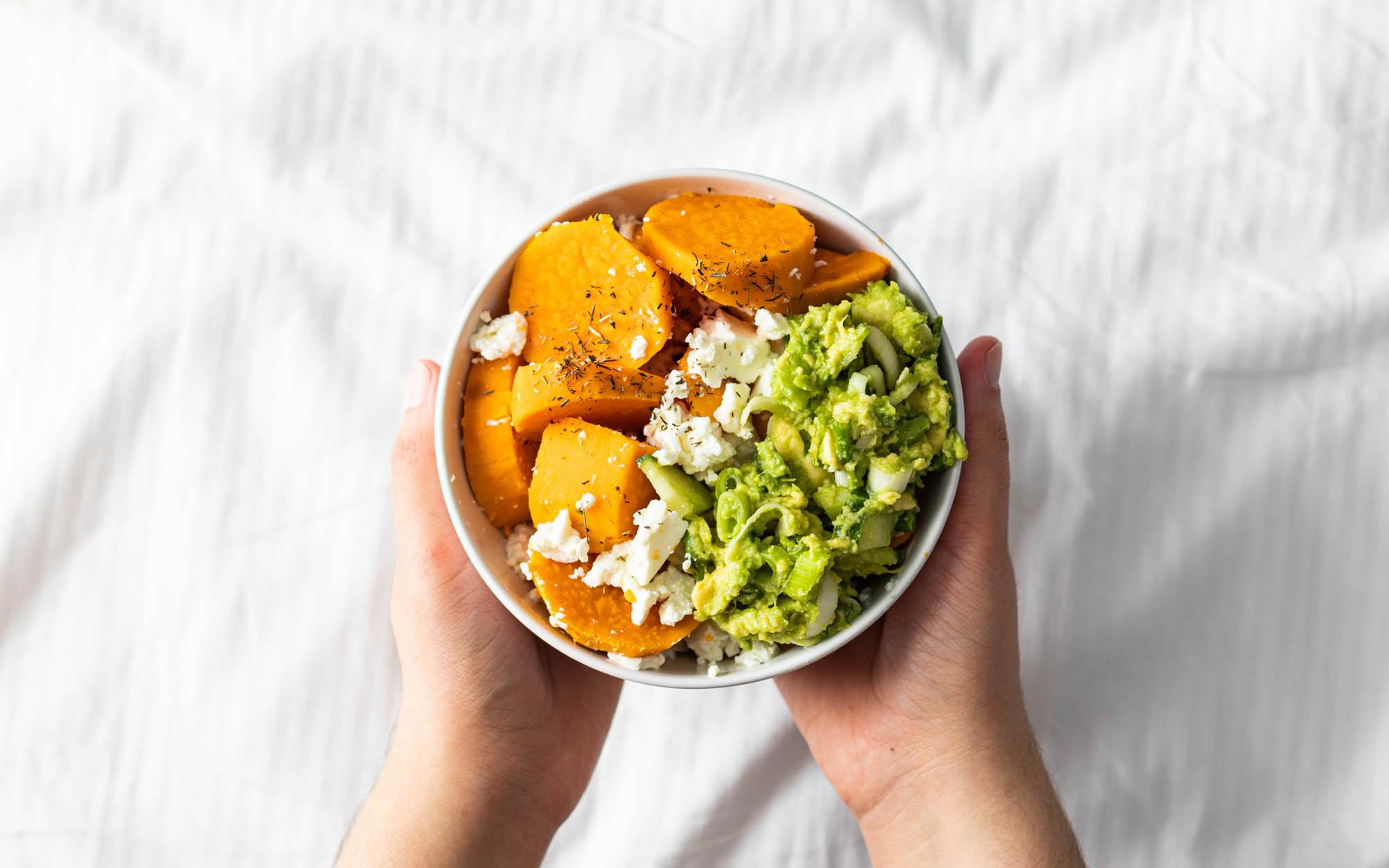 Sweet Potatoes and Guacamole Bowl