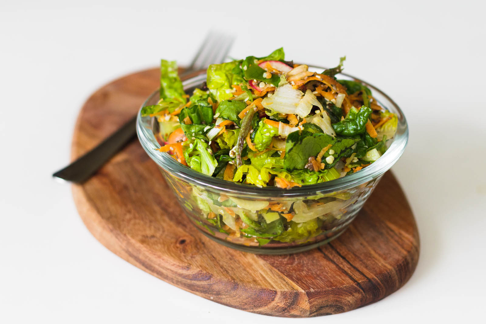One bowl of summer green salad
