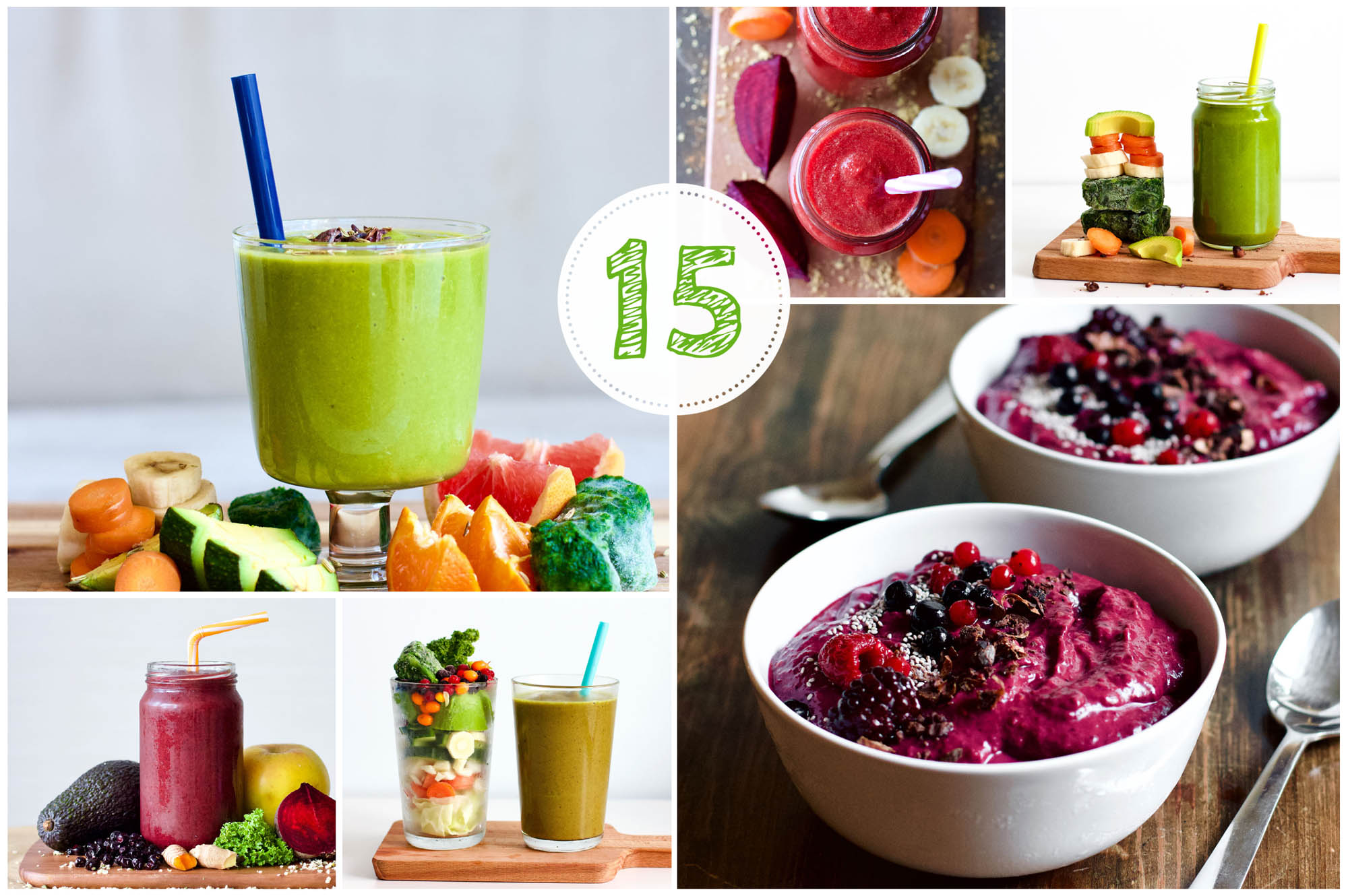 15 Plant-Based Smoothies & Smoothie Bowls (Low-Carb & Healthy)